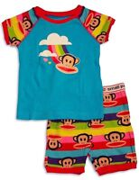 Paul Frank - Toddler Girls Short Sleeve Shorty Pajama, Turquoise Size: 24m