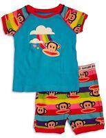 Paul Frank - Toddler Girls Short Sleeve Shorty Pajama, Turquoise Size: 24m