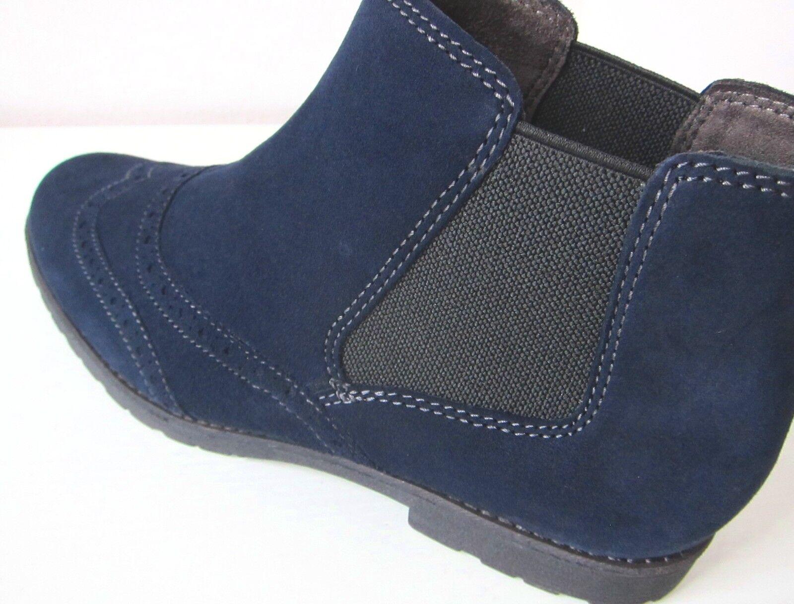 Tamaris Wildleder Stiefel Stiefelette blau Gr. 41 Blau ankle Stiefel bootee Blau 41 suede 1f3b51