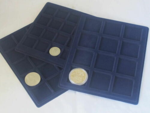 33mm 45m EXTRA 334mm x 220mm TRAY LARGE ALUMINIUM COIN CASES -22mm 39mm 66mm