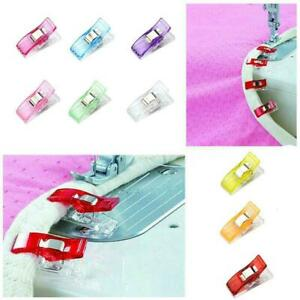 10X-Magic-Wonder-Clips-Plastic-For-Fabric-Quilting-Sewing-Knitting-Crochet-F9Y7