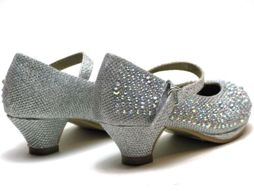 New Baby Toddler And Youth Girls Fashion High Heels Shoes Wedding Formal
