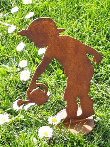 Edelrost Gärtner Junge P  G 13 Figur Dekoration Garten Terrasse Beet  Skulptur