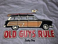 "Old Guys Rule ""lucky Dog"" Woody Surf Car Tee Size M - 4xl Rrp $39.95"