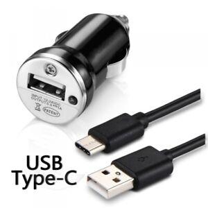 Chargeur-Voiture-Allume-Cigare-Cable-USB-Type-C-Noir-pour-Asus-ZenFone-AR