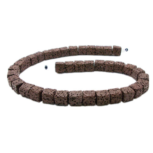 Natürliche Lava Würfel Stein Lose Perlen DIY Halskette Armband Ohrring Handwerk