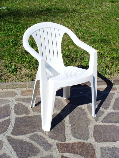 sedia poltrona in resina bianca bianco cm 56x56x79h arredo esterno interno