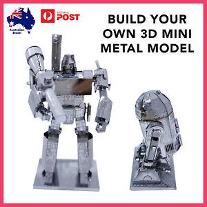 3D Mini Metal Model DIY Kit Puzzle Build Dragon Black Knight Fun Home Hobby