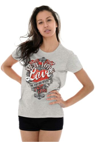 New York The Empire State Fashion Souvenir Womens Tees Shirts Ladies Tshirts