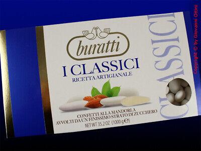 Confetti Buratti Mandorla Classica Bianca Tipo Anacapri 1 Kg Senza Glutine