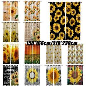 Dreamlike Sunflower Window Curtains Art Drapes For Living Room Bedroom Decor Ebay