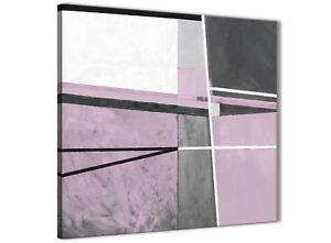 Lilac Grey Painting Abstract Bedroom Canvas Pictures Decor 1s395l ...