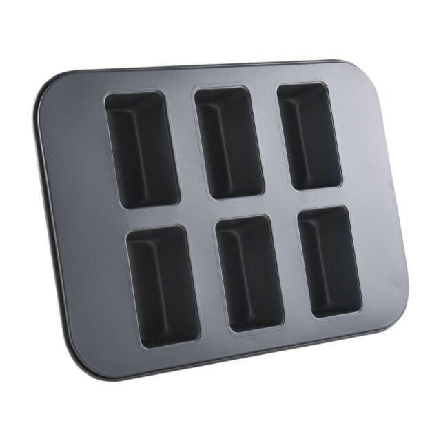 Fisko Mini-Kastenkuchen Backblech Für 6 Förmchen à 38 x 26 x 4,5 cm