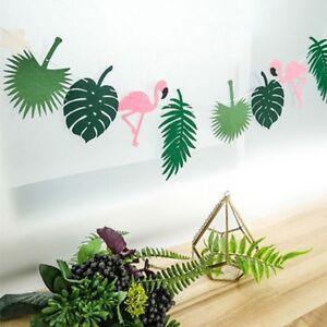 Home-Garden-Event-Party-Wedding-Decor-Banner-Birthday-Palm-Leaves-Flamingo