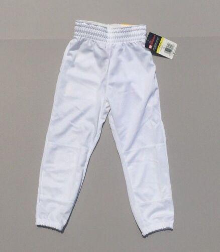 WILSON Youth WHITE Baseball Pants Medium NEW NWT Elastic Waistband