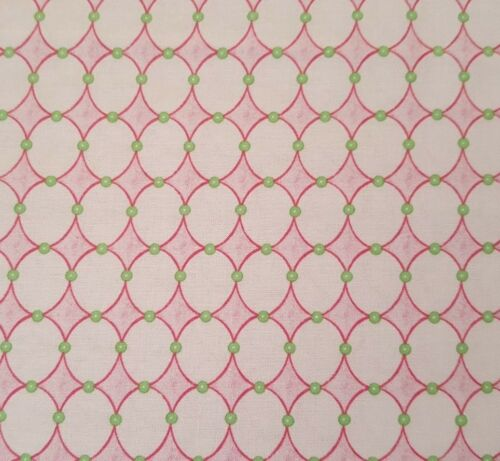 Baby Sprinkles BTY Nicole Tamarin Quilting Treasures Pink Circle Geometric