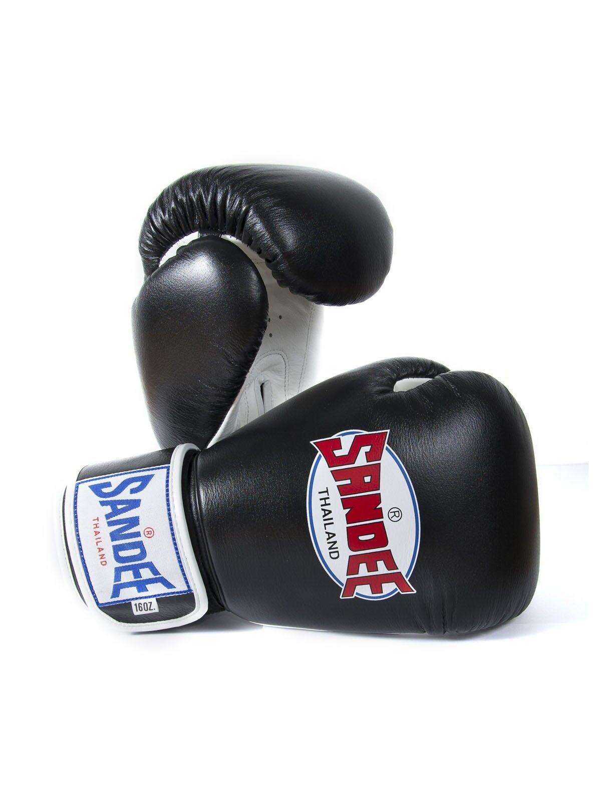 Sandee Sport Boxing Gloves Black White Muay Thai Kickboxing MMA K1 Striking Sold by MinotaurFightStore
