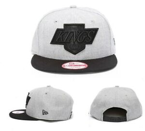 a862195c500 Mens New Era Team Tone LA Kings Grey Black Snapback Cap