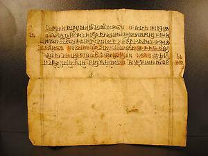 Antique 18e Th Manuscript Skand Purana Sanskrit Hinduism 3rd Chapter Shiv Kavach