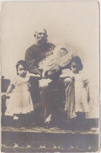 RPPC-Austria-Hungary-Emperor-Franz-Joseph-with-3-Grand-Children-c-1898-06