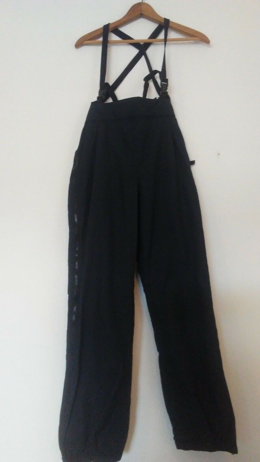 PATAGONIA Women's  Sz 10 Nylon Full Side Zip Bib Ski Snow Pants w  Suspenders