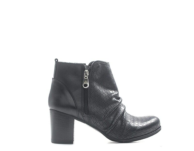 shoes rebecca van dik woman black leather tfap 05.ne.01