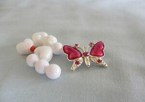 Rose émaillé Papillon Pendentif Bead & Set De Plastique Blanc/acrylique Perles-afficher Le Titre D'origine Mode Attrayante