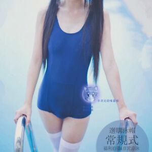 206000e4656 Japanese School Swimsuit Sukumizu Cosplay Costume Blue Lolita ...