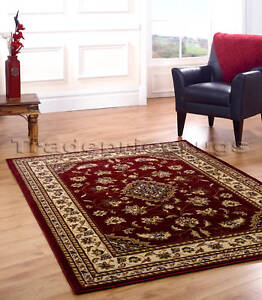 Image Is Loading Extra Large Red Beige Clic Traditional Rug 200x290