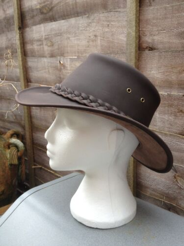 AUSSI STYLE LEATHER AUSSIE BUSH XS-XL  BLACK OR BROWN MUST FOR FESTIVALS