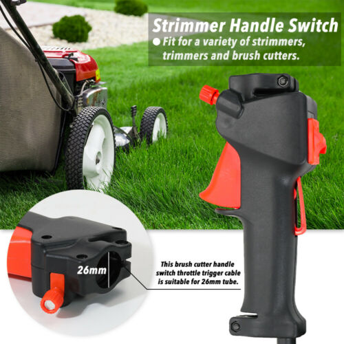 Lawn Mower Parts Trimmer Brush Cutter Handle Switch Cable Accessories W6R6