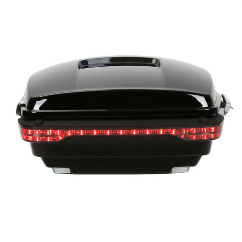 King Tour Pack Pak Trunk Bagger W// Tail Light For Harley Touring Models 14-up