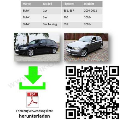 AHK ES7 BMW 3er E90 E91 2005-2014 Limousine Touring Anhängerkupplung komplett