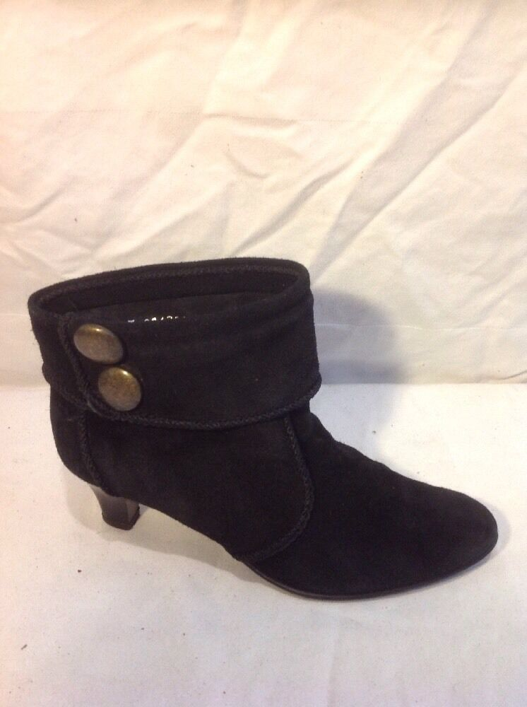 Faith Black Ankle Suede  Boots Size 37