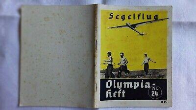 Segelflug Olympiaheft Heft 24 Olympische Spiele Olympia 1936 Propaganda Ausschuss Ebay