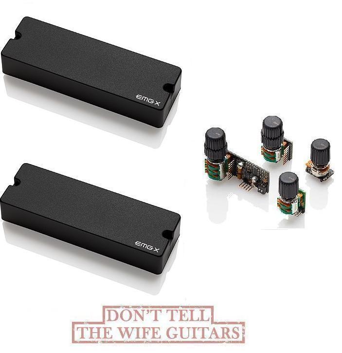 EMG 45dcx activa 6 cuerdas, jabón bajo, altavoces y control acústico bqc 45 dcx