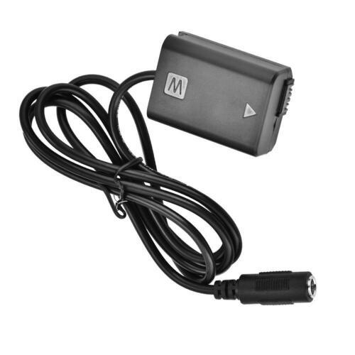 NP-FW50 Cable De Alimentación AC DC Batería Maniquí fuente para Sony Alpha A6500 A7R A7 6300