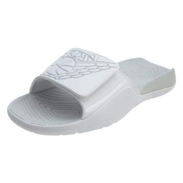 3246fb40e98224 Nike Jordan Hydro 7 VII BG Wings White Kids Youth Sandal Slides Aa2516-100  Sz 4y