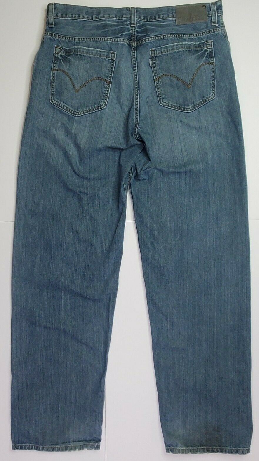 Vintage Levis Silvertab Baggy Straight Jeans 36x3… - image 5