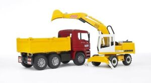 NEW-Bruder-1-16-Man-Tga-Truck-With-Liebherr-Excavator-from-Mr-Toys