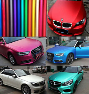 All Colours Car Metallic Matte Chrome Satin Vinyl Wrap Sticker