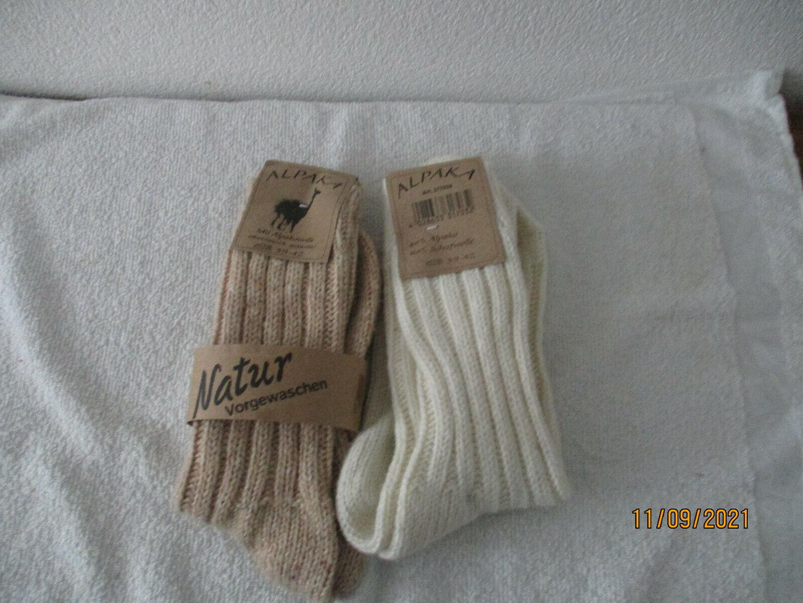 2 Paar Alpakasocken Alpakawolle Winter Socken * 100% Wolle * Gr.39-42