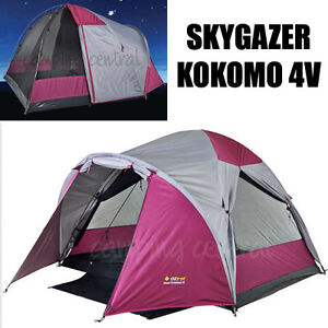 Image is loading OZTRAIL-KOKOMO-SKYGAZER-4V-UPDATED-MODEL-Dome-Tent-  sc 1 st  eBay & OZTRAIL KOKOMO SKYGAZER 4V (UPDATED MODEL) Dome Tent 4 Person ...