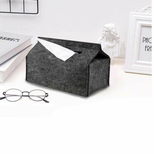Felt Tissue Box Paper Napkin Holder Home Decoration Storage Case Office Bathroom