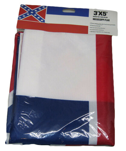3x5 feet Mississippi State Ideal for hanging standard flagpole Flag Polyester