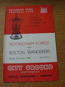 27011968 Nottingham Forest v Bolton Wanderers FA Cup Crease - Birmingham, United Kingdom - Returns accepted within 30 days after the item is delivered, if goods not as described. Buyer assumes responibilty for return proof of postage and costs. Most purchases from business sellers are protected by the Consumer Contr - Birmingham, United Kingdom