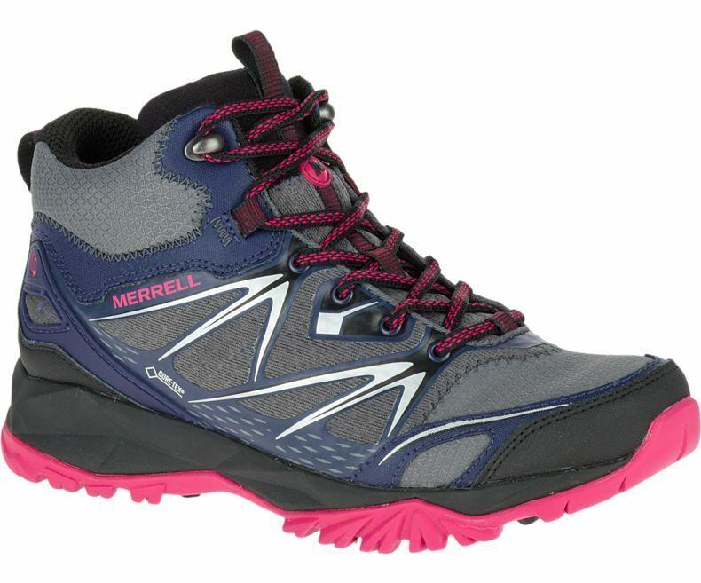 Merrell Capra Perno Mid Gore-Tex Gtx botas Para Caminar Impermeable 4.5 nos 7