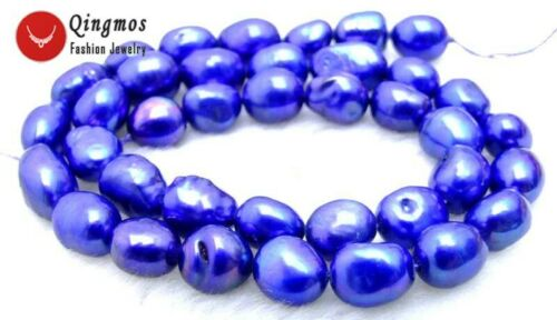 """7-9mm Baroque Natural Sky-Blue Pearl Loose Beads for Jewelry Making Strand 14/"""""""