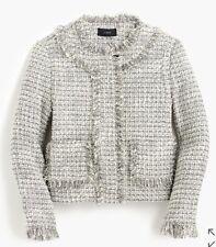 NWT JCREW Women's Lady Jacket In Metallic Tweed Blazer Sz 0 F7291 $198 CURRENT!