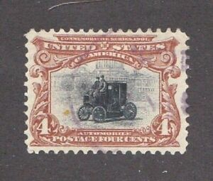 United-States-stamp-296-used-light-cancel-clean-SCV-17-00